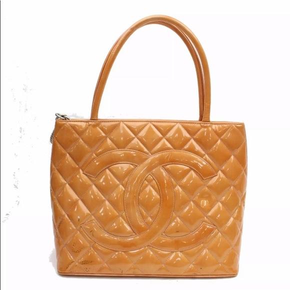 23b9c5372ea9 CHANEL Bags | Orange Small Shopper Tote Gorgeous A | Poshmark